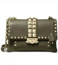 ❤️  Michael Kors Cece Studded Leather Chain Olive/Gold Shoulder Bag