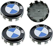 1/4X TAPAS compatibles  BMW azul blanco 68 mm llantas serie 1 2 3 4 5 6 7 M Z X