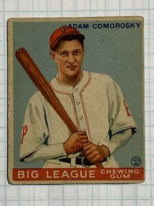 "1933 Goudey Big league Indian gum #77 Adam Comorosky ""Investment"""
