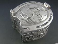 Wonderful Dutch 833 Silver Box horseshoe horses birds buildings hallmarked