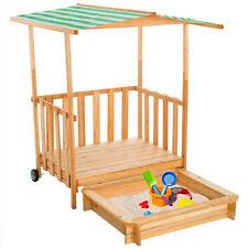 Bac à sable maison pour jouer véranda pour jouer bois protection solaire sandbox