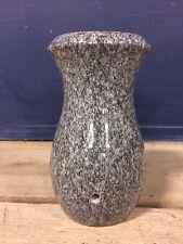 Barra Gray Granite Headstone Memorial Stone Cemetery Grave Flower Vase 7x4-D