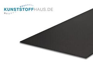 PVC Hartschaumplatte Plattenzuschnitt - 500 x 250 x 3 mm Schwarz