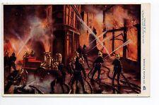 """POMPIERS carte postale illustrée raphael TUCK les pompiers """" un grand incendie """""""