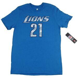 NFL Detroit Lions Number 21 Reggie Bush Blue Youth Tee Shirt Size XL-EG 18 NWT