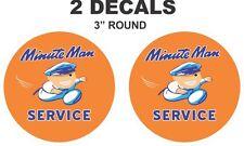 2 Minute Man Service Vinyl Decals