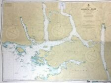 Vtg ESPERANZA INLET Nautical CHART Canada BRITISH COLUMBIA Vancouver Island MAP