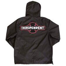 Independent Trucks Ogbc Patch Hooded Windbreaker Jacket Black Medium