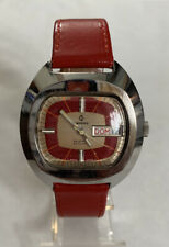 VINTAGE CANDINO RED AUTOMATIC GENTS WATCH 2 TONE DIAL STUNNING GWO