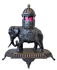WMF Art Nouveau à Paris Jugendstil Antike Indien Elefant Figur Versilbert 1895