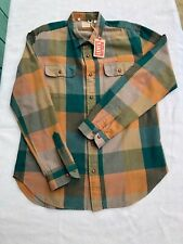 Levi's LVC Levis Vintage Clothing 1950's Shorthorn Shirt green  Cotton Italy