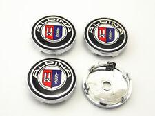 4PCS Wheel Center Hub Caps Clips ALPINA Emblems Stickers 60mm Car Parts b6020