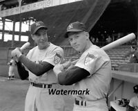 1957 New York Yankees Rookie Mickey Mantle & Joe DiMaggio  8 X 10 Photo Picture