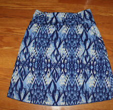 NEW Womens TRANQUILITY Colorado Clothing Daydream Blue A-Line Skirt Size M