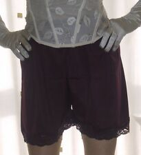 2 pairs of purple~ aubergine silky nylon gusset french knickers panties culottes