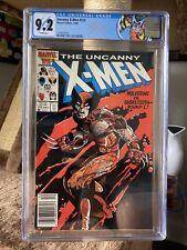 Uncanny X-Men 212 Marvel 1986 CGC 9.2 Wolverine vs. Sabretooth NEWSSTAND