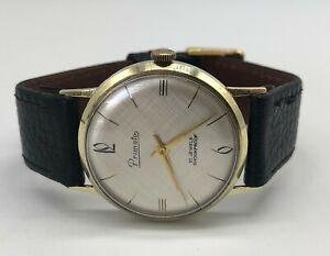 Vintage 14k 14ct solid gold Primato Mens Dress watch (9ct 9k 18ct 18k wristwatch
