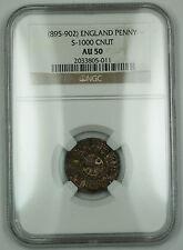 895-902 England One Penny Silver Coin S-1000 Cnut NGC AU-50 AKR