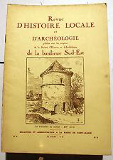 PARIS/BANLIEUE SUD-EST/REVUE D HISTOIRE ET D'ARCHEOLOGIE/MAI 1931