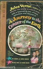 A Journey to the Center of the Earth 1959 PB book RARE Pat Boone Jules Verne