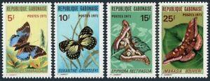 Gabon 272-275,MNH.Michel 434-437. Butterflies-1971:Charaxes smaragdalis,Euxanthe