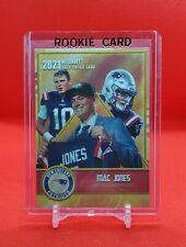 2021 Mac Jones Rookie Card! Gold Gems! New England Patriots - Mint Condition!