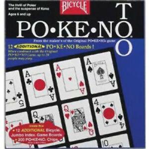 Pokeno Too Po-Ke-No 2 12 Jumbo Game Boards NEW CARDS BLUE BOX Bicycle