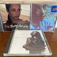 LOT Of 3 SADE CD's. Stronger Than Pride, Love Deluxe, & Promise 30 Tracks Total