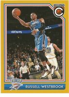 Russell Westbrook Panini Complete GOLD 2016/17 NBA Basketball Card #342
