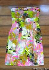 H&M ~ New! Size 36 6 ~ Strapless Multi-Color PALM Stretch Sun Dress