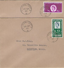 More details for gb :1961 parliament -pair of plain envelopes- balmoral castle single ring cancel