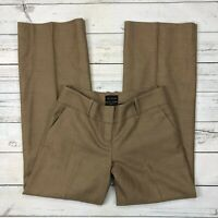 The Limited Cassidy Fit Dress Pants Size 4 Womens Wool Brown Lined Wide Leg