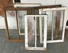 Wood Frame Windows 2 Pane 19 x 28 (5 QTY) vintage wooden sash picture glass