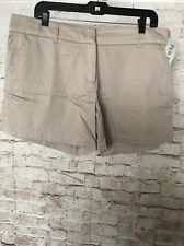 NWT Per Se Khaki Cotton Shorts Business Casual PerSe Size 14
