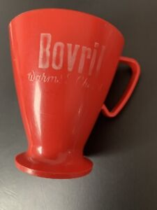 BOVRIL MUG - WARMS AND CHEERS - VINTAGE PLASTIC - COLLECTABLE AND VINTAGE