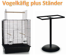 Vogelkäfig Wellensittich Kanarien & Ständer 65cm & Freisitz Vogelhaus 54x34x68cm