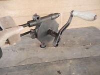 Hand Crank Bench Grinder antique Vintage Old Tools Blacksmith Sharpener