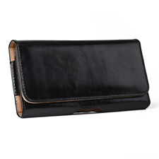 Horizontal PU Leather Holster Belt Clip Pouch Case for iPhone Samsung LG Sony