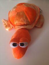 "BJ Toyco Orange Turtle  Plush 10"" Stuffed Animal good condition"