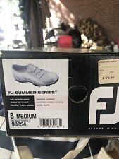 footjoy fj sport golf shoeswomens 8 Medium Worn 1 Time