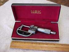 "NSK 550-601 ROLLING DIGITAL MICROMETER 0-1"" RANGE .0001"" GRADUATION JAPAN w CASE"