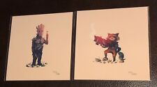 OLLY MOSS GUARDIANS OF THE GALAXY PRINT SET GROOT & ROCKET RACCOON A-Holes #3
