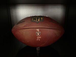 Las Vegas Raiders Game Used Football vs. Seahawks 8/31/17 Fumble Recovery - RARE