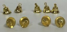 144 pieces 11mm Gold Liberty Jingle Bells Christmas Ornament Crafts