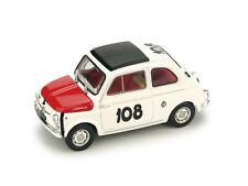 #R479 - Brumm Fiat 595 Abarth - Coppa Gallega 1965 - L. Dürst #108 - 1:43