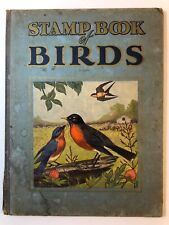 """1951 STAMP BOOK OF BIRDS Hardcover 10""""x13"""" w 72 Stamps COMPLETE"""