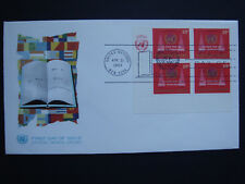 United Nations UN 13c control block x4 1969 First Day Cover FDC