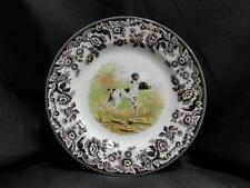 Spode Woodland Flat Coated Pointer, Made in England: Salad Plate (s), 7.75""