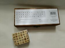 Alphabet Rubber Stamp Wooden Box Vintage Style + Small Size Wood Letters