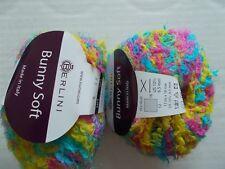 Berlini Bunny Soft fuzzy plush fashion yarn, Jasmine, lot of 2 (80 yds ea)